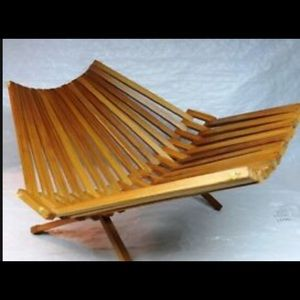 Fold-Out Bamboo Fruit Dish/Bowl Holder Rack Stand
